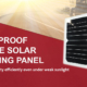 Waterproof vechicle solar charging panel